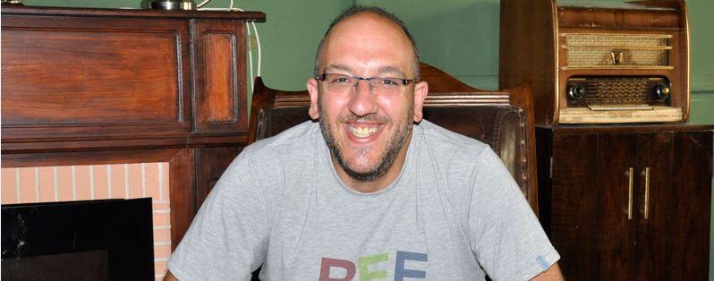 Javier Ajenjo, fundador del festival Sonorama, esta tarde en los Supermartes de El Hueco