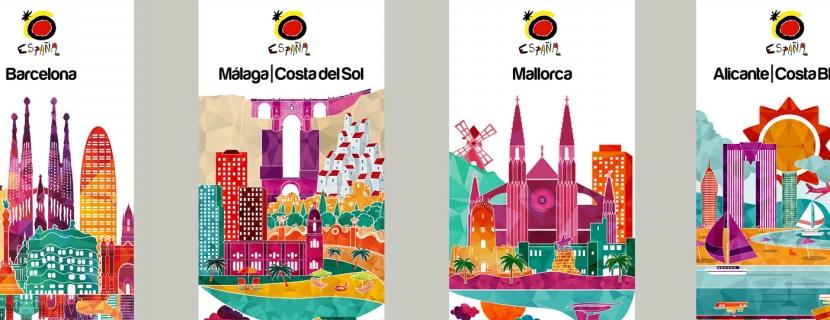 Un equipo de emprendedores de El Hueco trabaja en el diseño de una campaña de promoción de Turismo de España