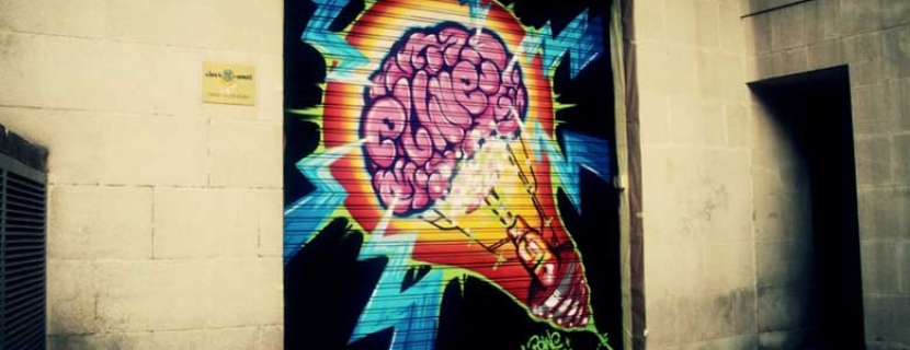 Un graffiti para decorar El Hueco