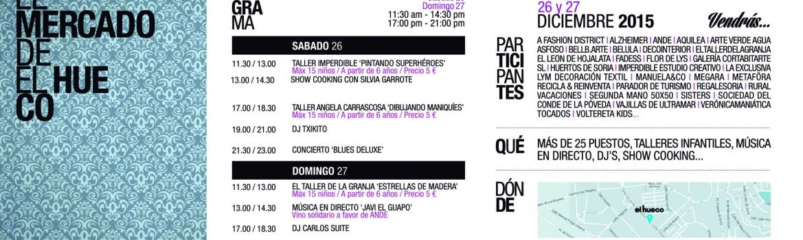 El Mercado de El Hueco vuelve a abrir este sábado y domingo