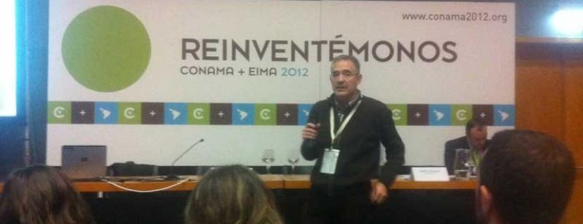 El ganador del premio al mejor Ecoemprendimiento en El Hueco Starter, en el Conama de Madrid
