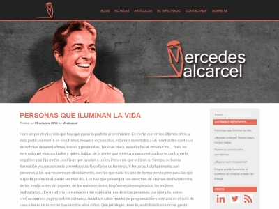 Blog personal Mercedes Valcárcel