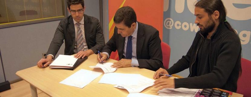 """El Hueco y Soria Futuro firman un convenio para poner proyectos """"en la parrilla de salida del mercado"""""""